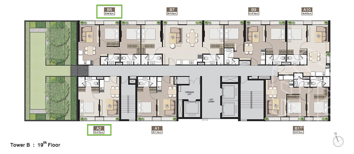 TowerB_FloorPlan_19fl