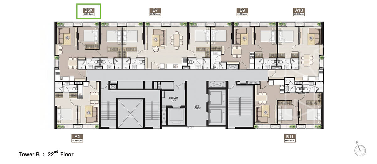 TowerB_FloorPlan_22fl